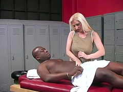 Hot MILF Masseur Gets Interracial Gangbang By Few Dudes