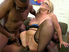 Busty MILF Gets Gangbanged And Drilled In Her Anal Hole