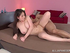 After getting her pussy fucked this Asian girl gets a creampie