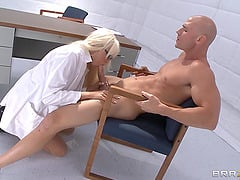 Pretty Pornstar With Big Beautiful Tits Enjoying A Doggy Style Fuck In Her Office