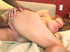 Darla Crane toys her cunt and gets it amazingly banged by a black guy
