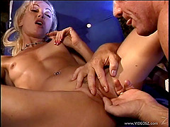 Skinny cowgirl with small tits having her pussy fingered before getting throbbed hardcore in reality shoot