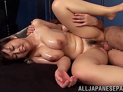 Pleasant Asian Lady In Bikini Gets Her Natural Tits Oiled
