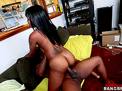 Solo Model Ebony Gets Pinned Hardcore Doggystyle Indoors