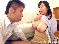 Her huge Japanese melons are perfect for a hardcore tit fuck