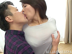 Nothing is funner than titty fucking a stacked Asian MILF