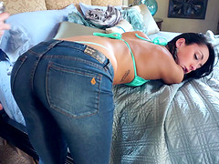 Sabrina Banks in the denim kind of penetration action