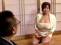 Irresistible Japanese chick with huge boobs penetrated in doggy style