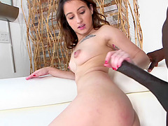 Adorable girl fucks her first huge black cock and loves it