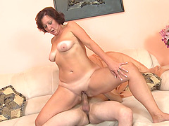 Horniest MILF sucks and rides the cock like there's no tomorrow