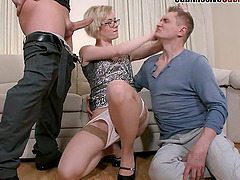 Dayan is here to show her partner how a real man bangs the pussy