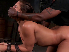 Ravishing Latina Abella Danger pleasures hard dicks in the dungeon