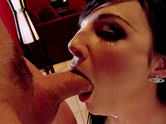 Sweet Halie James adores feasting on her lover's big dick
