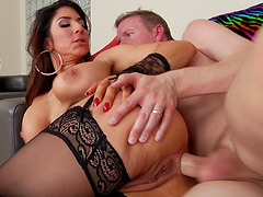 Raven Hart is ready to swallow juicy white cream after pussy-drilling