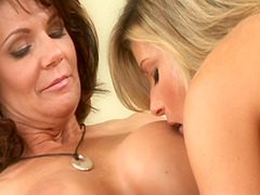 Victoria Puppy and Chelsea Sun are totally naked on a king size bed and enjoy passionate lesbian sex.