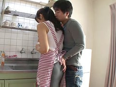 Shiho Aoi is a cute Asian housewife who has her sugar hole penetrated