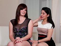 Heena and Jenna do not mind sharing a big black dick