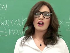 Sarah Shevon is a horny teacher who loves being a part of a gangbang