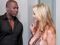 Julia Ann dolls up for a black man's monster love tool