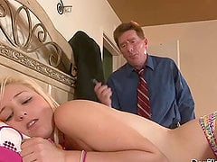 Adorable Kyley Richman getting fucked by an older man