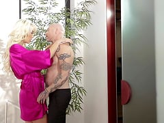 Aubrey Kate and Chanel Santini join a guy with a pussy for a threesome