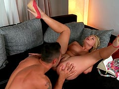 Cute blonde Lucy Heart wants to be ravished by a hot guy
