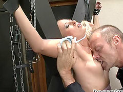 Two tied whores get tortured by the tireless stud Rocco Siffredi