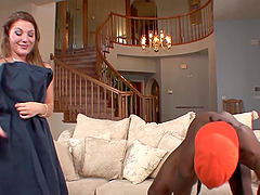 Aurora Snow lets a black fellow plow her tight butt