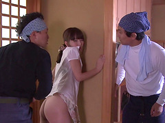 Yui Hatano attacked by two men for a nasty three way