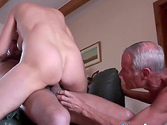 Amateur mature getting over two severe cocks