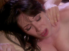 Sensual fucking with brunette RayVeness loving his cock
