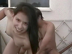 Hispanic girlfriend with small perky tits deepthroats and fucks her boyfriends