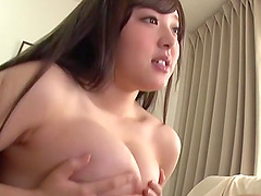 Tsubakiori Satomi rides and sucks a cock while her big tits bounce