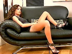 Horny babe Annabella Rox gets naughty in the office