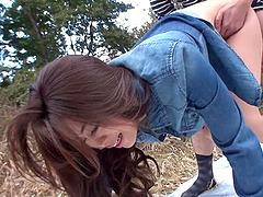 Japanese minx, Maki Hojo had wild group sex out
