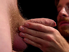 Gay guy Cody Winter gets his ass filled with a big friend's dildo