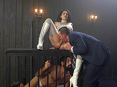 Bisexual threesome with Arabelle Raphael gives the best orgasm ever