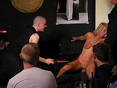 Public humiliation ends with a hardcore anal sex for slave Luci Angel
