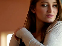 Nubile Babe Dani Daniels gets naked and shows her pussy