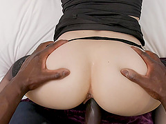 Costumed Ava Courcelles has amazing fucking skills and likes black cock