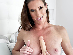 Sofie Marie wants to feel strong and long dildo in her pussy