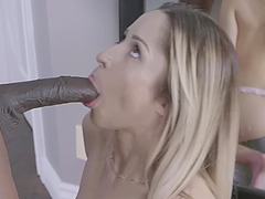 Black penis for petite blonde girlfriend Goldie Rush with a nice body