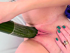 Busty european lady got so horny she had to masturbate her wet pussy alone