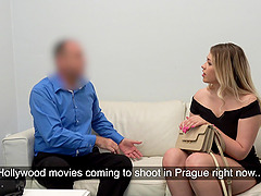 Fake casting sex video with adorable blonde amateure Selvaggia