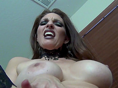 POV video of mature amateur Mindi Mink teasing and riding