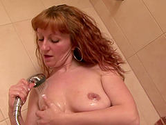 Amateur mature Katja gets fucked hard and takes a shower. HD