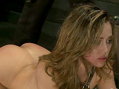 Tied up Kristina Rose gets her ass fisted and pussy fucked