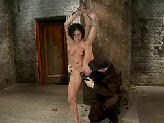 Whipping and Toying Tessa Taylor's Pussy after Tit Torture