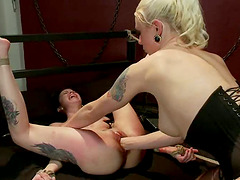 Krysta Kaos gets her coochie fisted and toyed by Lorelei Lee