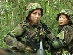 Japanese army girl gets captured and fucked hard